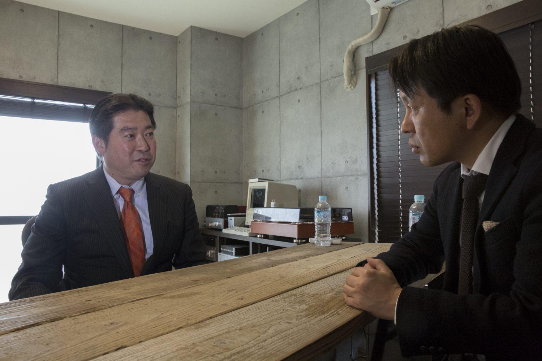 福島氏(左)と菅野氏