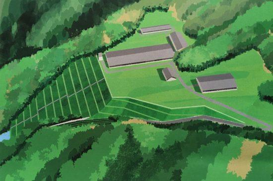 津久井農場の完成予定CG(住民説明会の資料より)