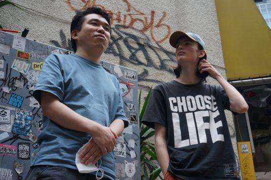 MC正社員(左)とLick-G(右)