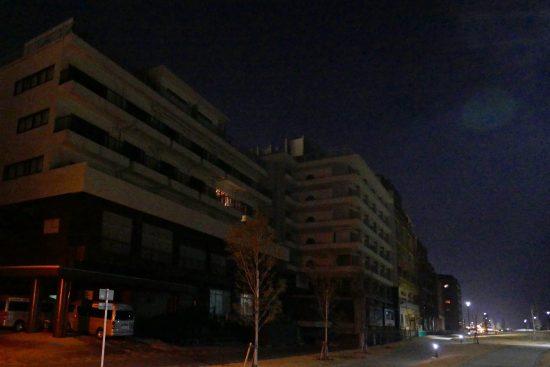 別府市中心部の海沿いにある北浜温泉旅館街