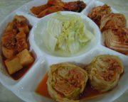 北朝鮮料理のキムチ