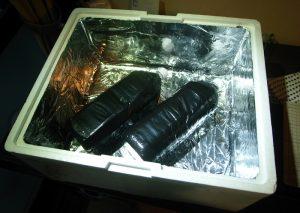 自作したペットボトル温水器