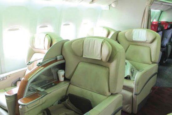 JALボーイング777-200リクライニングシート