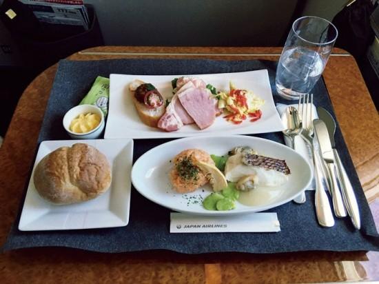 JALファーストクラス機内食