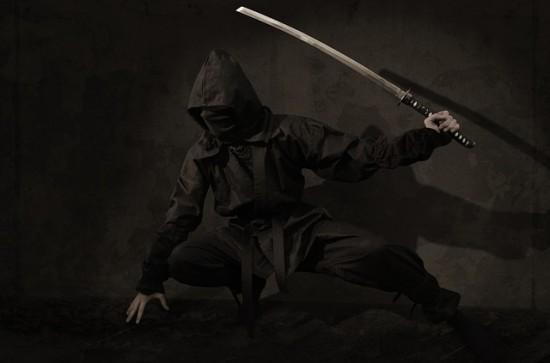 黒づくめの忍者