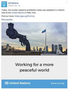 国連事務局も祝福