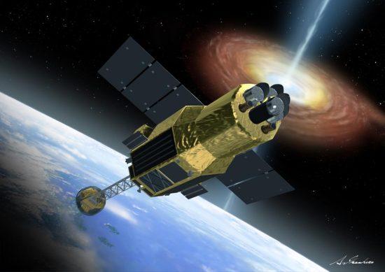 X線天文衛星「ひとみ」の想像図