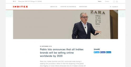 Inditexパブロ・イスラCEO