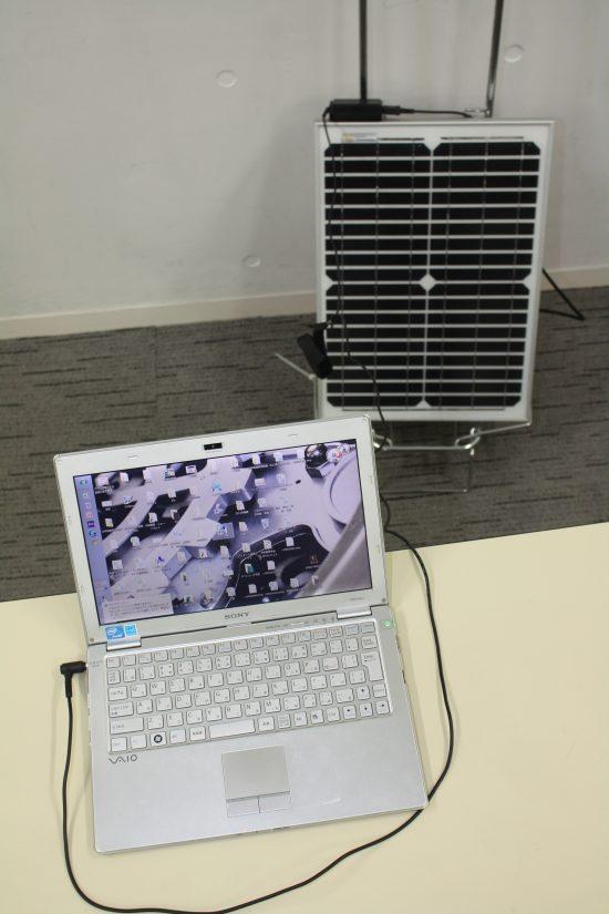 パソコンも簡単に充電できる。