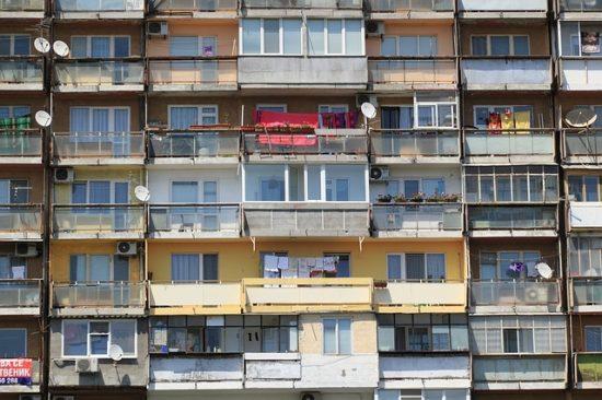 ブルガリアの集合住宅