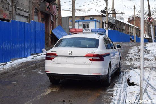 中国公安のパトカー