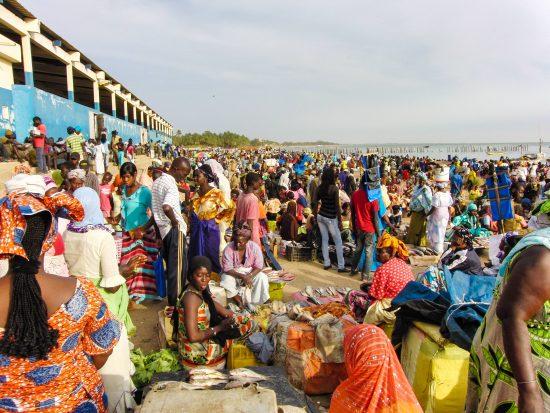 セネガルの漁港