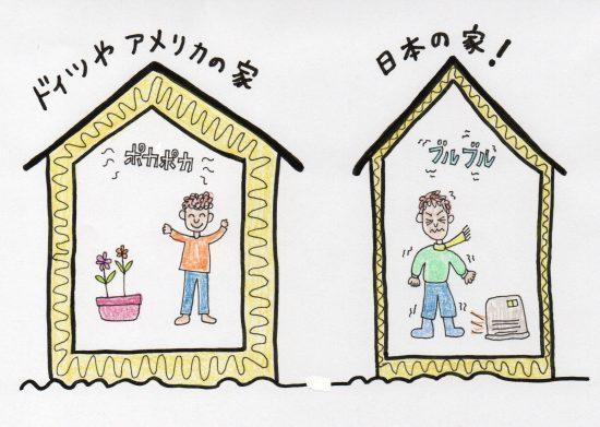 イラスト1 日本とドイツの断熱の違い