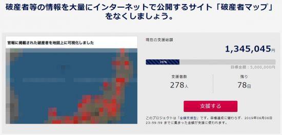 破産者マップ Image: 破産者を晒す「破産者マップ」、弁護団が声明文を発表