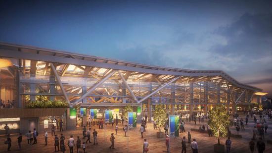 高輪ゲートウェイ駅の完成イメージ