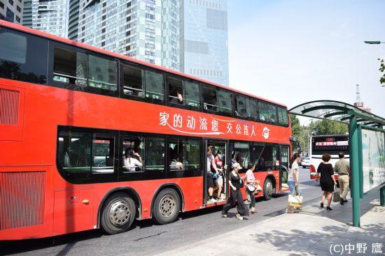 大連を走る2階建てバス