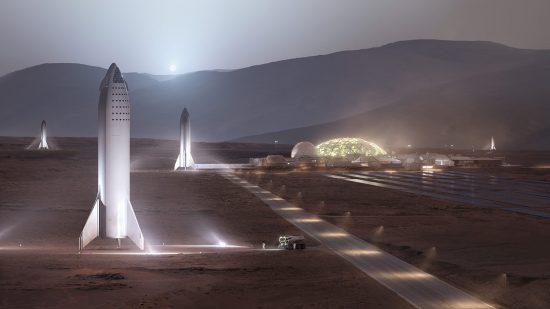 火星移民の想像図
