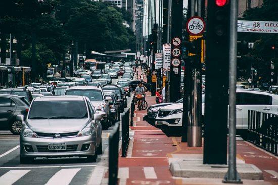 サンパウロの交通状況