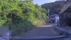 県道255号線伊方町鳥津