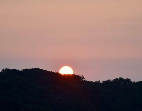 道の駅伊方きらら館から見る夕日