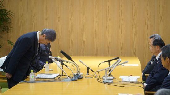 秋田県知事と秋田市長に謝罪をした岩屋毅防衛大臣