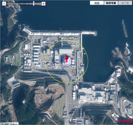 島根原子力発電所3号炉原子炉建屋と半数必中界の関係