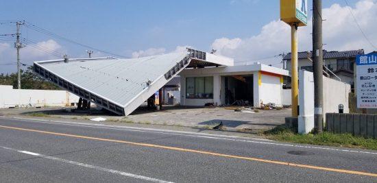 台風15号が過ぎたあとの館山市