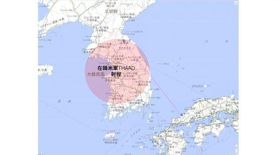 萩イージス・アショア基地へのSRBMの軌道
