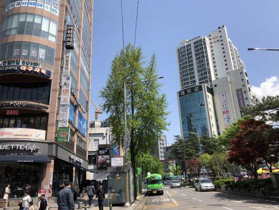 韓国の街角