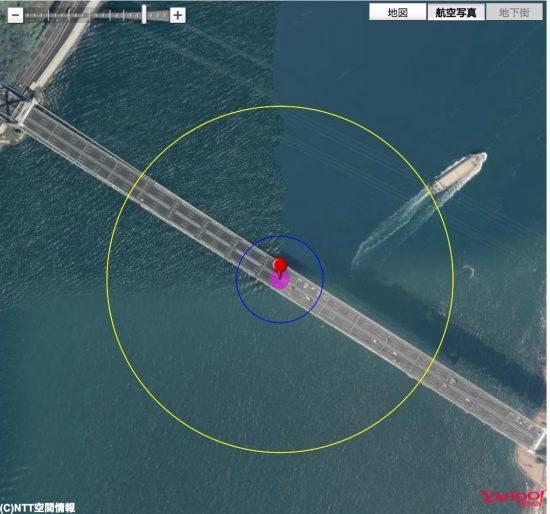 関門橋と半数必中界