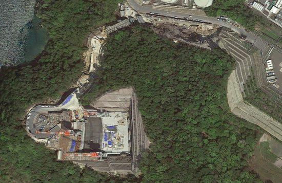 Google Map衛星写真で見た高浜発電所