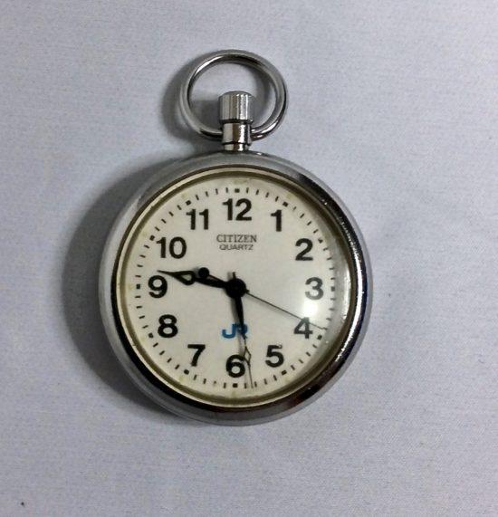 筆者がかつて使っていた二代目鉄道懐中時計