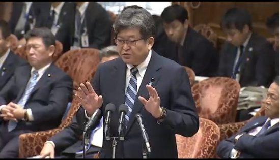 萩生田光一文科相。11月6日衆院予算委員会(衆院インターネット中継より)
