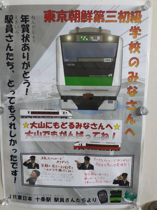 JR十条駅駅員によるポスター