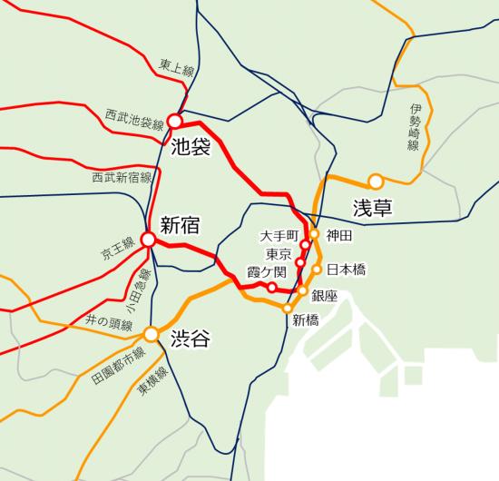 メトロ 図 路線 銀座 東京 線