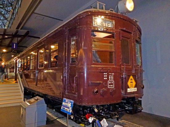 当時の都内では電車といえば「茶色」が主流だった(鉄道博物館にて)