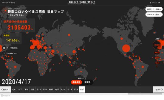日経世界マップ