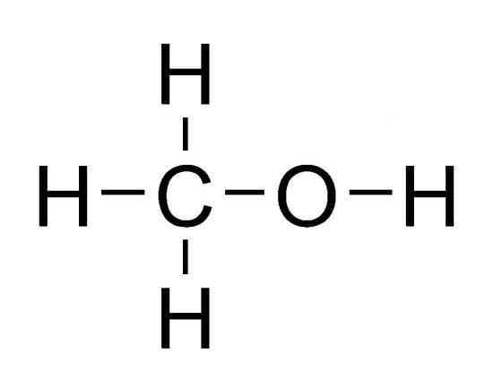 メタノールの構造式