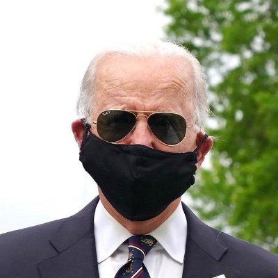ジョー・バイデンさんのマスク姿