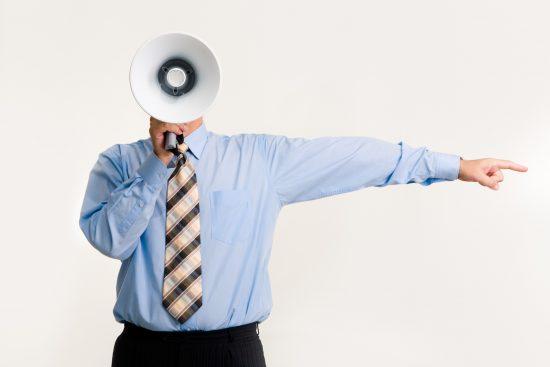 怒鳴る上司のイメージ
