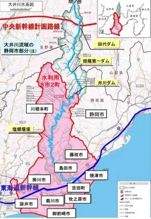 8市2町の地図