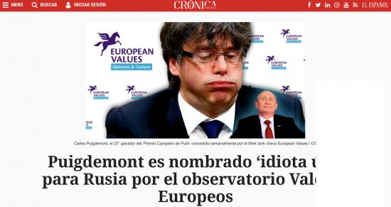 Puigdemont es un 'idiota útil' para Rusia