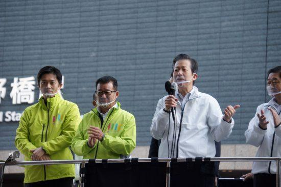 大阪入りをした公明党の山口那津男代表