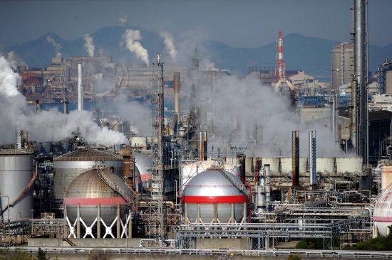 企業の二酸化炭素排出イメージ