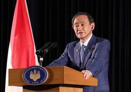インドネシア・ジャカルタで内外記者会見を行う菅首相
