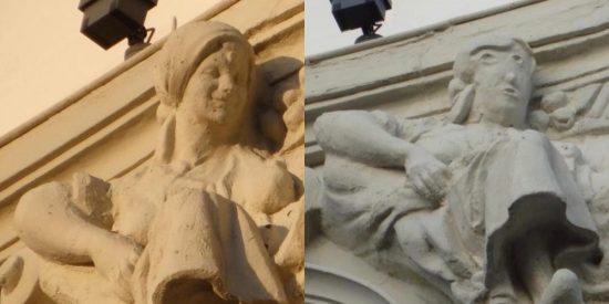 ウニカッハ銀行の彫刻