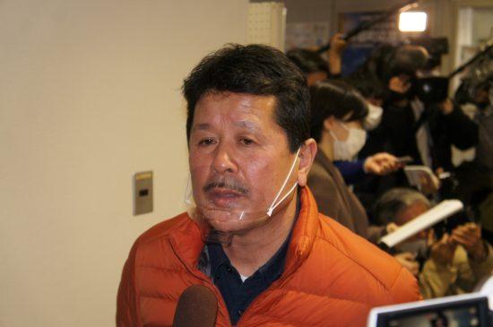 小泉純一郎元首相の講演会を主催、住民投票の署名集めをした「町民の会」の吉野寿彦・共同代表(水産加工会社社長)