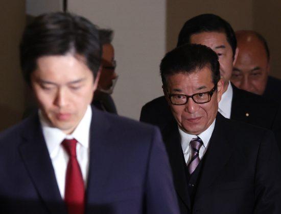松井一郎大阪市長と吉村洋文大阪府知事