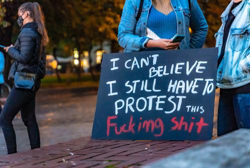 ポーランドのデモ