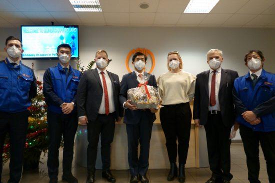 創美クラフト・ポーランドを訪問した宮島大使と地元の自治体関係者たち
